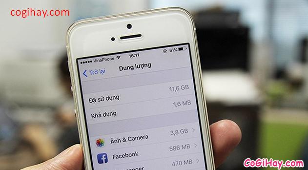 Điện thoại iPhone, Tablet iPad thông báo bộ nhớ iCloud bị đầy + Hình 2