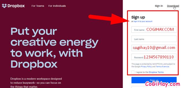 Hướng dẫn đăng ký tạo tài khoản Dropbox cho người mới + Hình 6