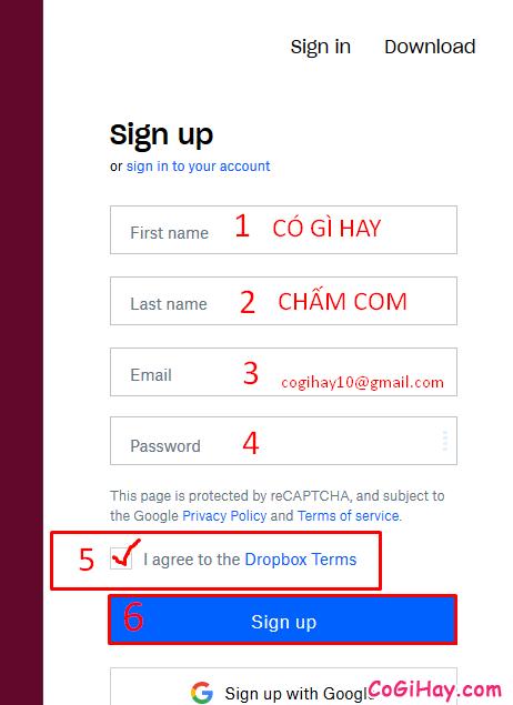 Hướng dẫn đăng ký tạo tài khoản Dropbox cho người mới + Hình 7