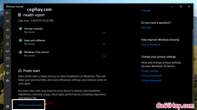 Bốn cách làm mới lại hệ điều hành Windows 10 + Hình 9