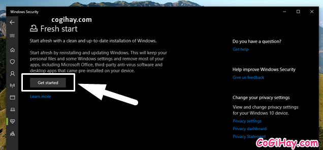 Bốn cách làm mới lại hệ điều hành Windows 10 + Hình 10