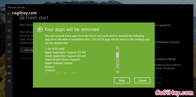 Bốn cách làm mới lại hệ điều hành Windows 10 + Hình 12