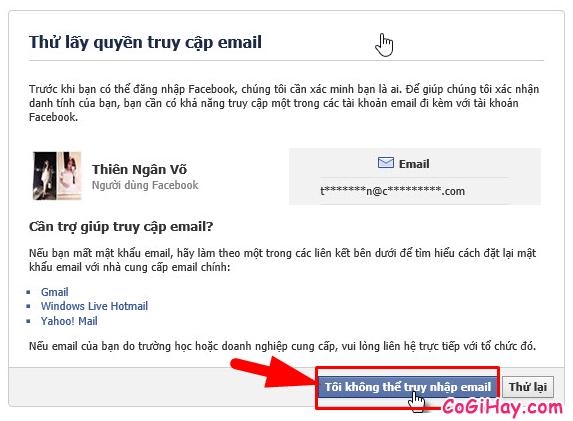 Hướng dẫn bạn cách lấy lại mật khẩu Facebook bằng chứng minh thư + Hình 13