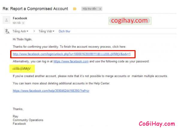 Hướng dẫn bạn cách lấy lại mật khẩu Facebook bằng chứng minh thư + Hình 16