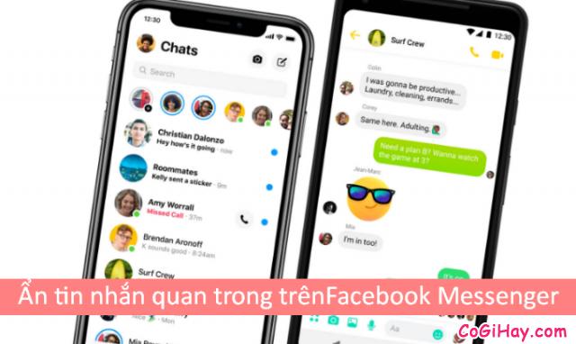 Hướng dẫn ẩn tin nhắn quan trọng trên Facebook Messenger