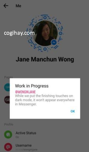 Cách cài đặt giao diện nền đen trong ứng dụng Messenger + Hình 2