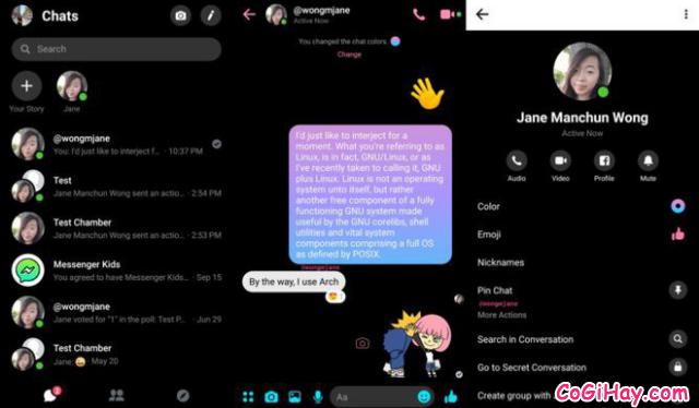 Cách cài đặt giao diện nền đen trong ứng dụng Messenger + Hình 4