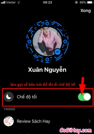 Cách cài đặt giao diện nền đen trong ứng dụng Messenger + Hình 9
