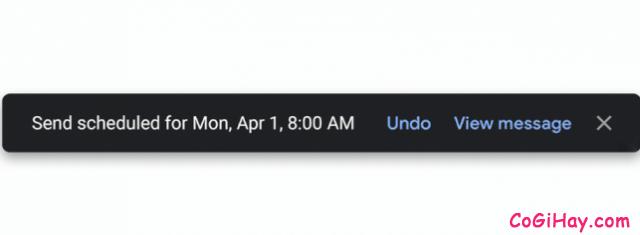 Cách sử dụng tính năng hẹn ngày, giờ gửi Email trên Gmail + Hình 6