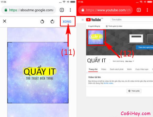 Cách thay đổi ảnh đại diện kênh YouTube bằng điện thoại + Hình 10