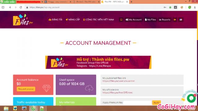 Cách kiếm tiền online bằng cách upload video files trên Filespw + Hình 17