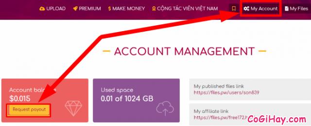 Cách kiếm tiền online bằng cách upload video files trên Filespw + Hình 26
