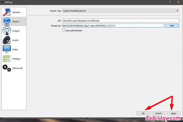 Cách sử dụng OBS Studio Live Stream màn hình máy tính lên Facebook cá nhân + Hình 12