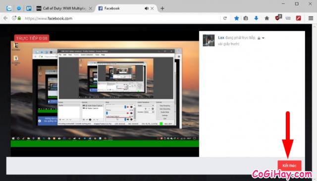 Cách sử dụng OBS Studio Live Stream màn hình máy tính lên Facebook cá nhân + Hình 18