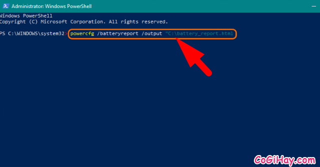 Cách kiểm tra tình trạng Chai Pin Laptop trên Windows 10 + Hình 7