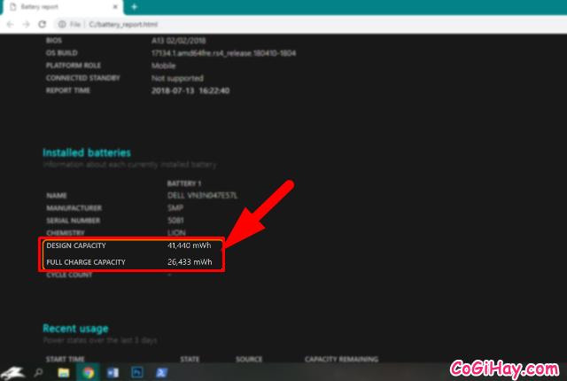 Cách kiểm tra tình trạng Chai Pin Laptop trên Windows 10 + Hình 9
