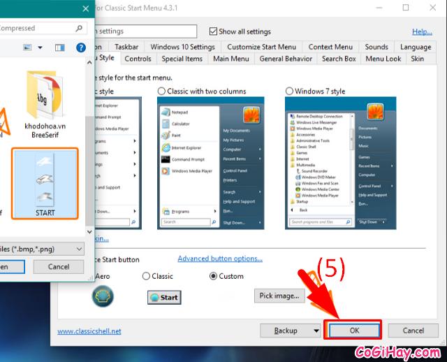 Hướng dẫn thay đổi biểu tượng iCon Start trên Windows 10 + Hình 6