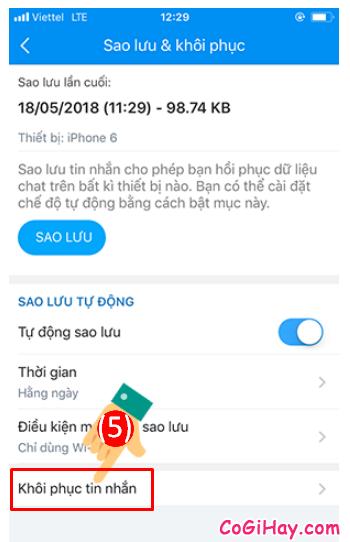 Hướng dẫn khôi phục lại tin nhắn đã bị xóa trên Zalo + Hình 11