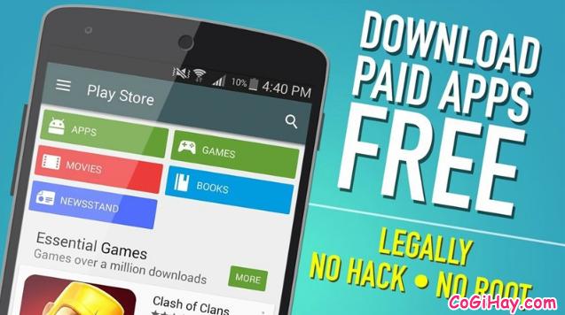 Cách Download Free ứng dụng phải trả tiền trên điện thoại Android + Hình 2