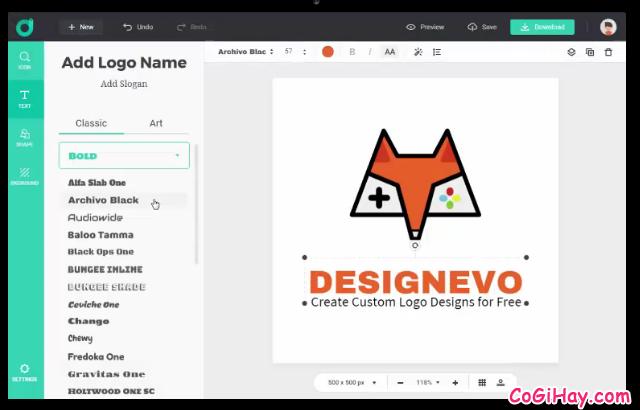 TOP 10 công cụ thiết kế LOGO miễn phí cho người không chuyên + Hình 24