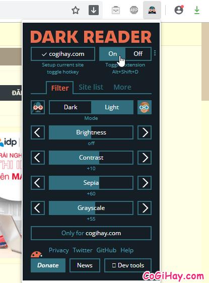 Hướng dẫn bật chế độ Dark Mode cho trình duyệt Cốc Cốc, FireFox + Hình 12