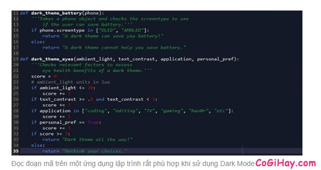 Chế độ Dark Mode có thật sự tiết kiệm Pin và tốt cho mắt? + Hình 10