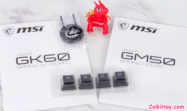 Review COMBO bàn phím - chuột Gaming MSI VIGOR GK60 & CLUTCH GM50 + Hình 6