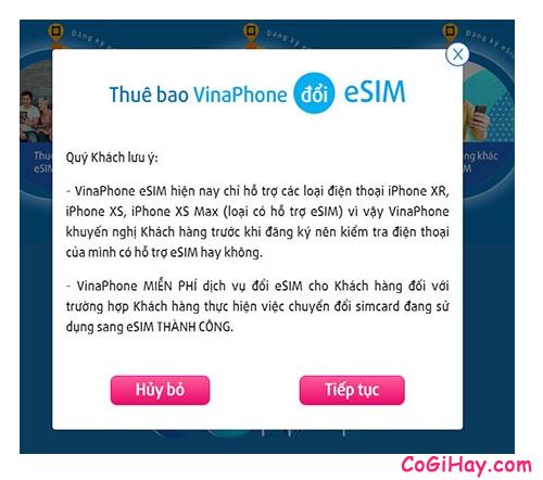 Đổi và Kích hoạt eSIM Vinaphone, Viettel trên iPhone XR, XS, XS Max + Hình 4