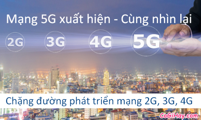 Mạng 5G: Cùng nhìn lại chặng đường của các mạng 2G, 3G, 4G