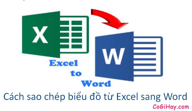 Hướng dẫn cách sao chép biểu đồ từ file Excel sang Word