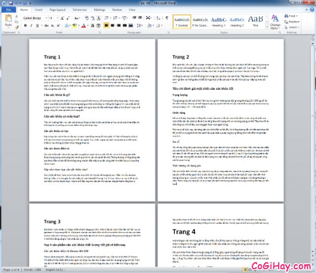 Hướng dẫn xóa trang trong phần mềm soạn thảo văn bản Word + Hình 4