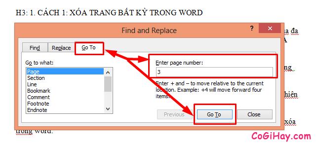 Hướng dẫn xóa trang trong phần mềm soạn thảo văn bản Word + Hình 5