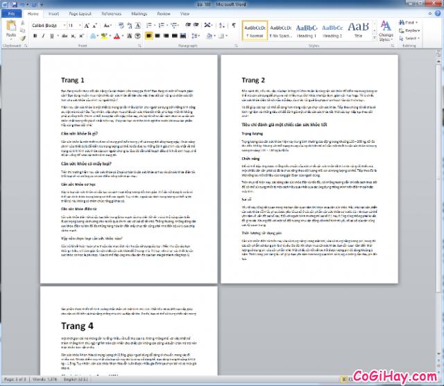 Hướng dẫn xóa trang trong phần mềm soạn thảo văn bản Word + Hình 7