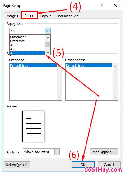 Hướng dẫn bạn cách in khổ giấy A5 trong Microsoft Excel, Word + Hình 7