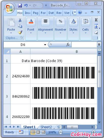 Hướng dẫn tạo mã vạch trong Microsoft Word, Excel + Hình 4