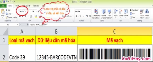 Hướng dẫn tạo mã vạch trong Microsoft Word, Excel + Hình 5
