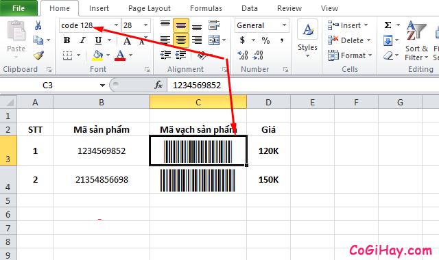 Hướng dẫn tạo mã vạch trong Microsoft Word, Excel + Hình 8