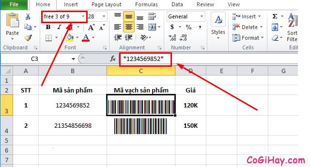 Hướng dẫn tạo mã vạch trong Microsoft Word, Excel + Hình 9