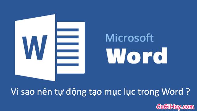 Hướng dẫn tạo mục lục trong Microsoft Word 2003 - 2019 + Hình 2