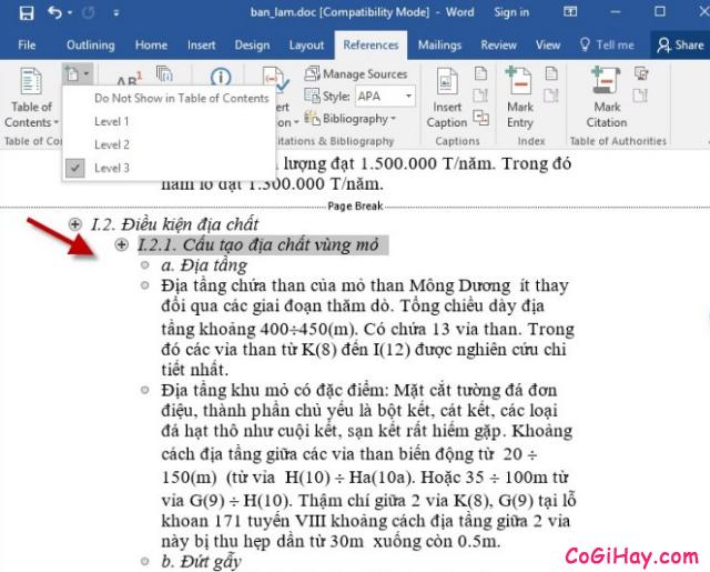 Hướng dẫn tạo mục lục trong Microsoft Word 2003 - 2019 + Hình 8