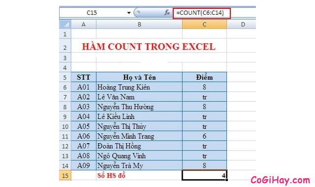 Tổng hợp TOP 10 Hàm cơ bản nhất trong Excel bạn cần biết + Hình 6
