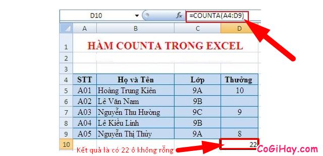Tổng hợp TOP 10 Hàm cơ bản nhất trong Excel bạn cần biết + Hình 7