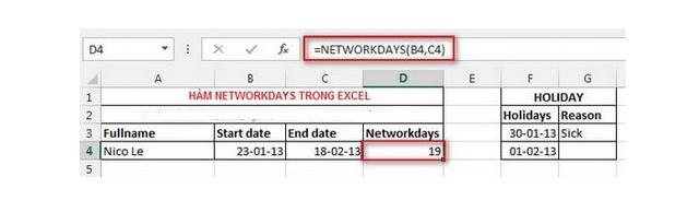 Tổng hợp TOP 10 Hàm cơ bản nhất trong Excel bạn cần biết + Hình 9