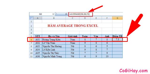 Tổng hợp TOP 10 Hàm cơ bản nhất trong Excel bạn cần biết + Hình 14