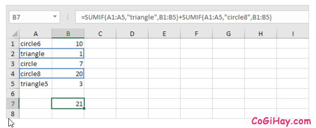 Hàm SUMIF và Ví dụ sử dụng hàm trong Microsoft Excel + Hình 16