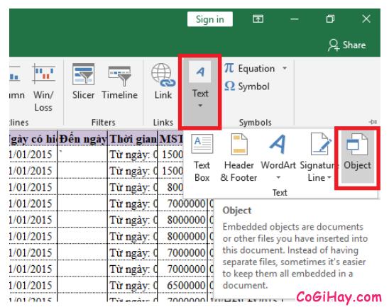 Cách chèn một tệp tin PDF, Word vào bảng tính Microsoft Excel + Hình 3