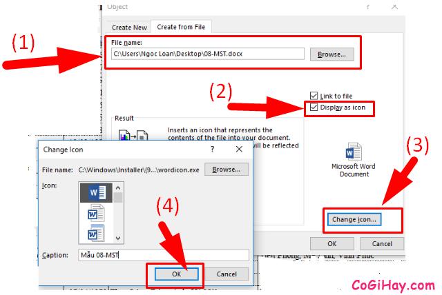 Cách chèn một tệp tin PDF, Word vào bảng tính Microsoft Excel + Hình 4