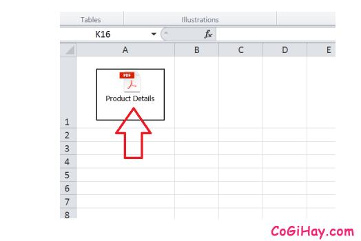 Cách chèn một tệp tin PDF, Word vào bảng tính Microsoft Excel + Hình 12