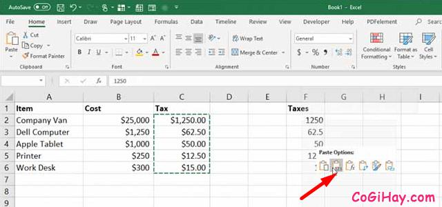 11 Tính năng hữu ích của lệnh PASTE trong Excel + Hình 9