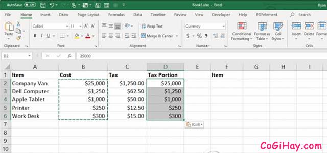 11 Tính năng hữu ích của lệnh PASTE trong Excel + Hình 11